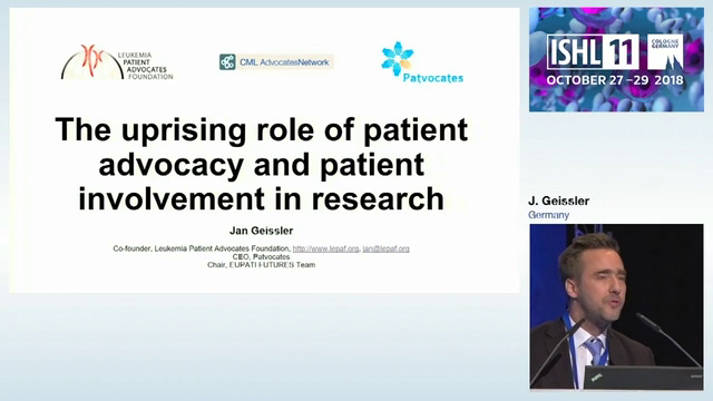 Key Note Lecture: The role of patient advocacy and patient involvement in research