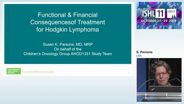 Functional and Financial outcomes after Treatment for Pediatric Hodgkin Lymphoma