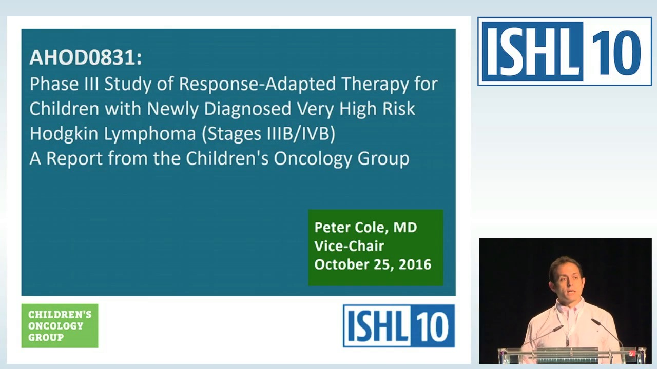 Phase III ABC study of response adapted therapy for the treatment of children with newly diagnosed very high risk Hodgkin Lymphoma (Stages IIIB/IVB) (AHOD0831): a report from the Children's Oncology Group
