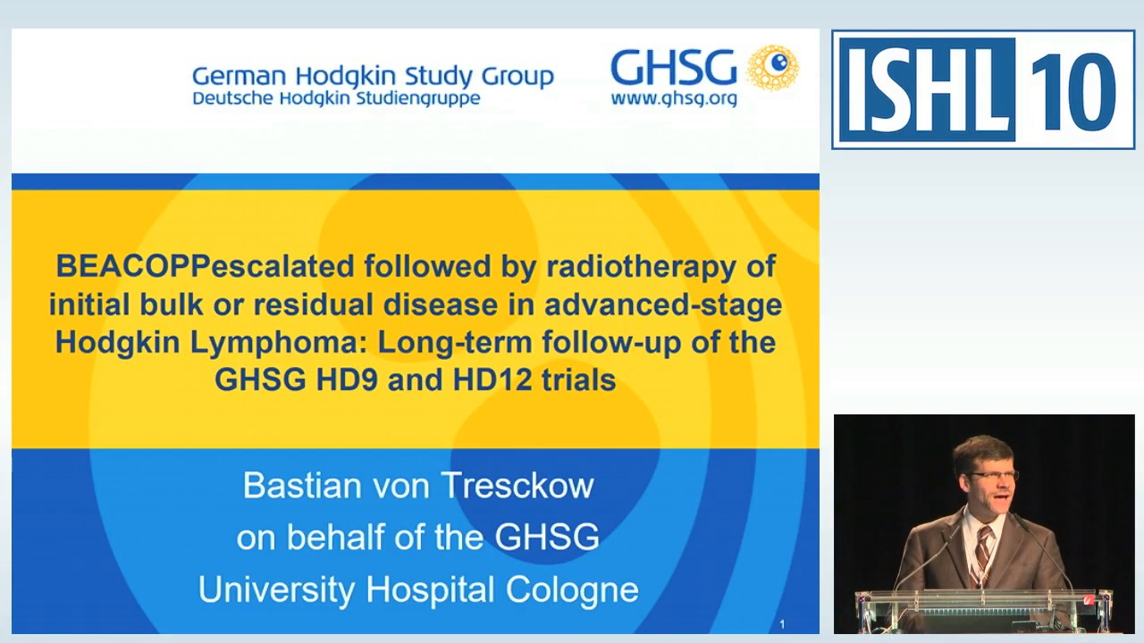 BEACOPPescalated followed by radiotherapy of initial bulk or residual disease in advanced-stage Hodgkin Lymphoma: long-term follow-up of the GHSG HD9 and HD12 trials