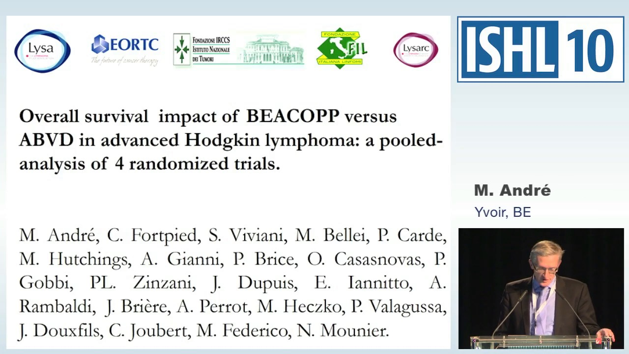 Overall survival (OS) impact of BEACOPP versus ABVD in advanced Hodgkin Lymphoma: a pooled analysis of 4 randomized trials