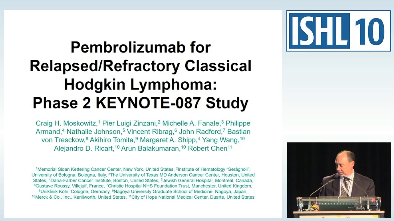 Pembrolizumab for relapsed / refractory classical Hodgkin Lymphoma (R / R cHL): multicohort, phase 2 KEYNOTE-087 study
