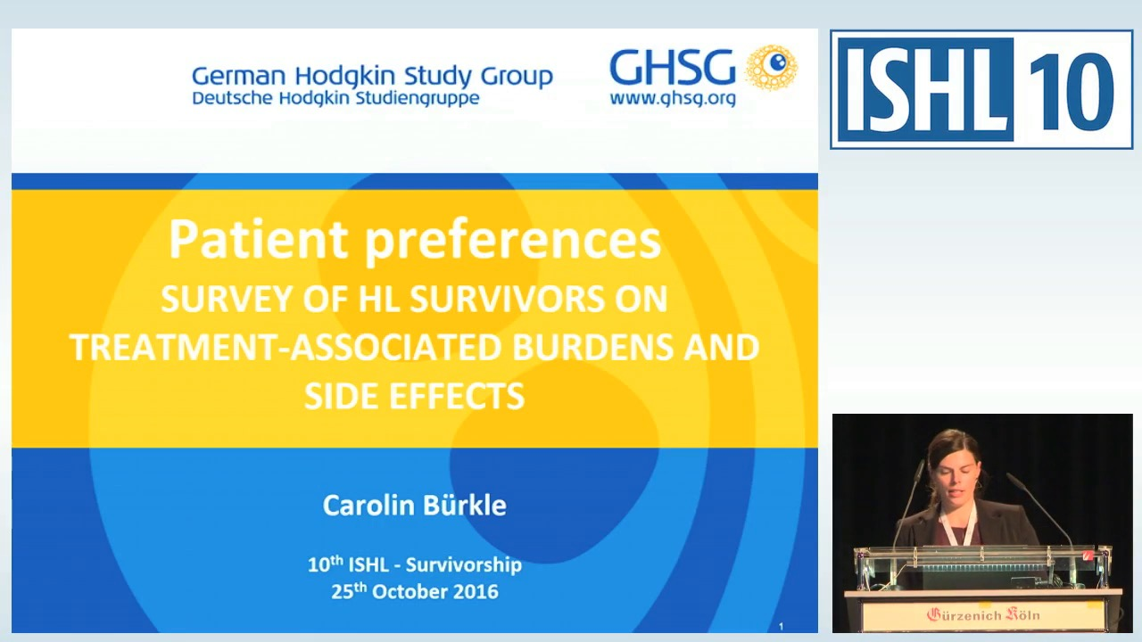 Patient preferences – survey of HL survivors on treatment associated burdens and side effects