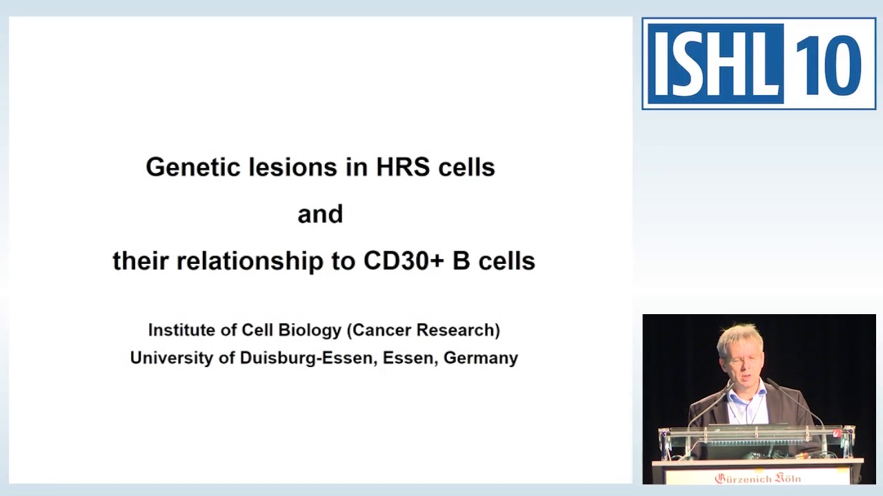 Genetic lesions in HRS cells and their relationship to CD30+ B cells