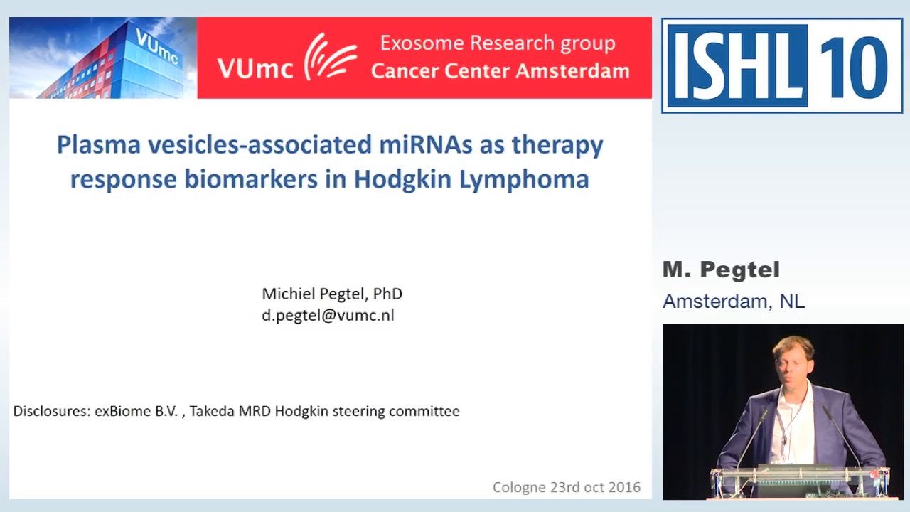 Plasma vesicle-associated miRNAs as therapy response biomarkers in Hodgkin Lymphoma